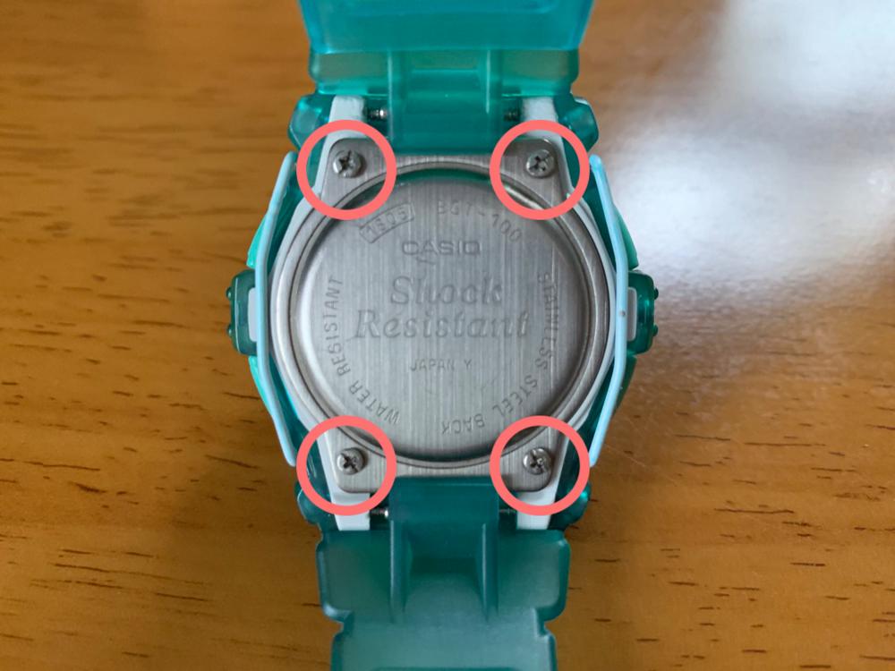 Baby-G,BGT-100,電池交換