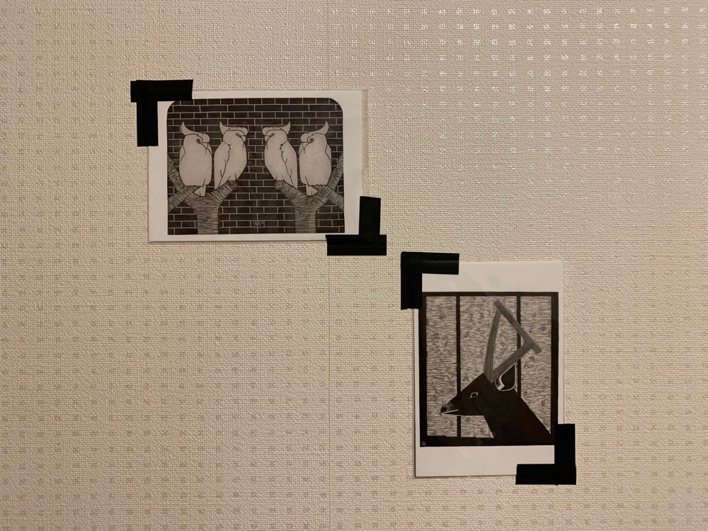 ポストカード,マスキングテープ,マステ,壁,飾る