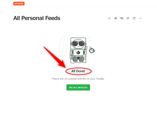 Feedly,RSS,All done